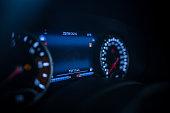 Car dashboard night view