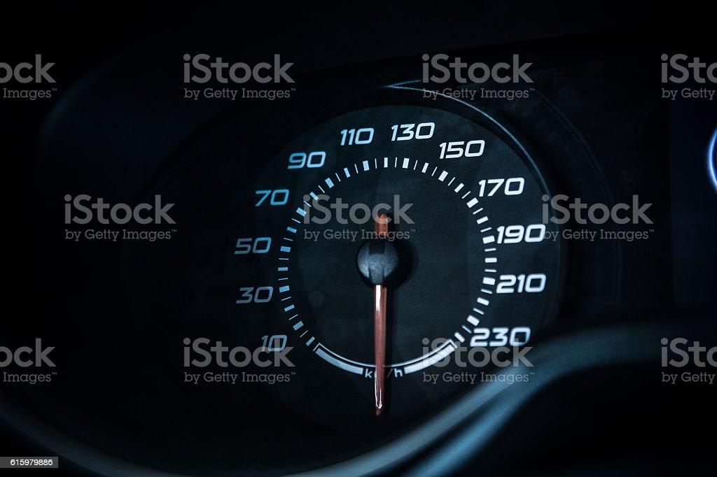 Car dashboard odometer stock photo