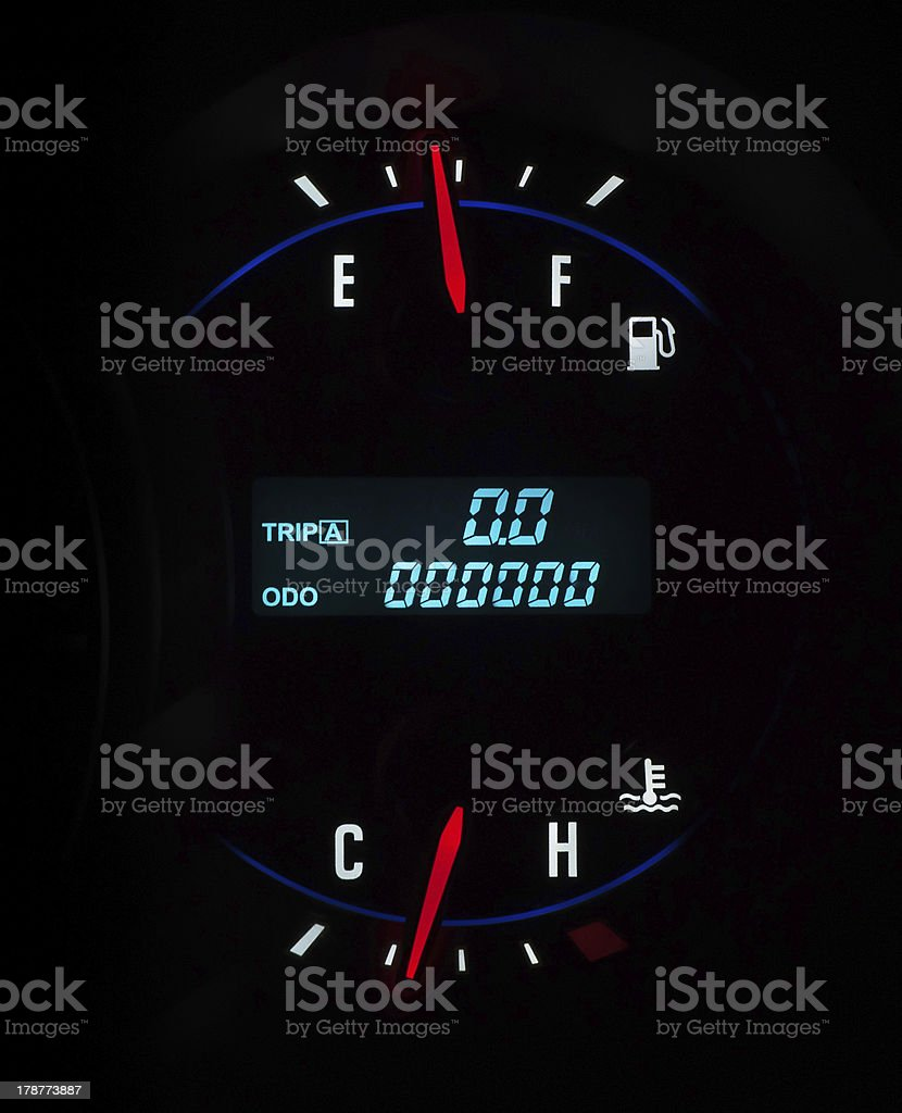 Car dashboard on black background royalty-free stock photo