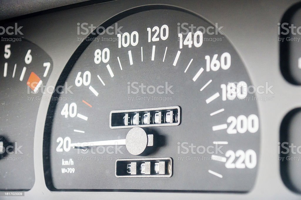 car dashboard royalty-free stock photo