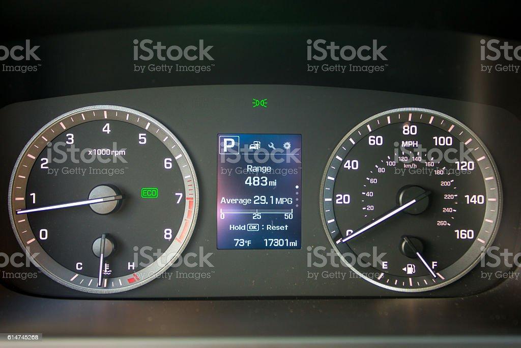 Car dashboard stock photo