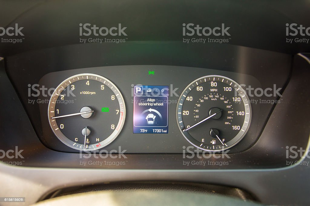 Car dashboard vector art illustration
