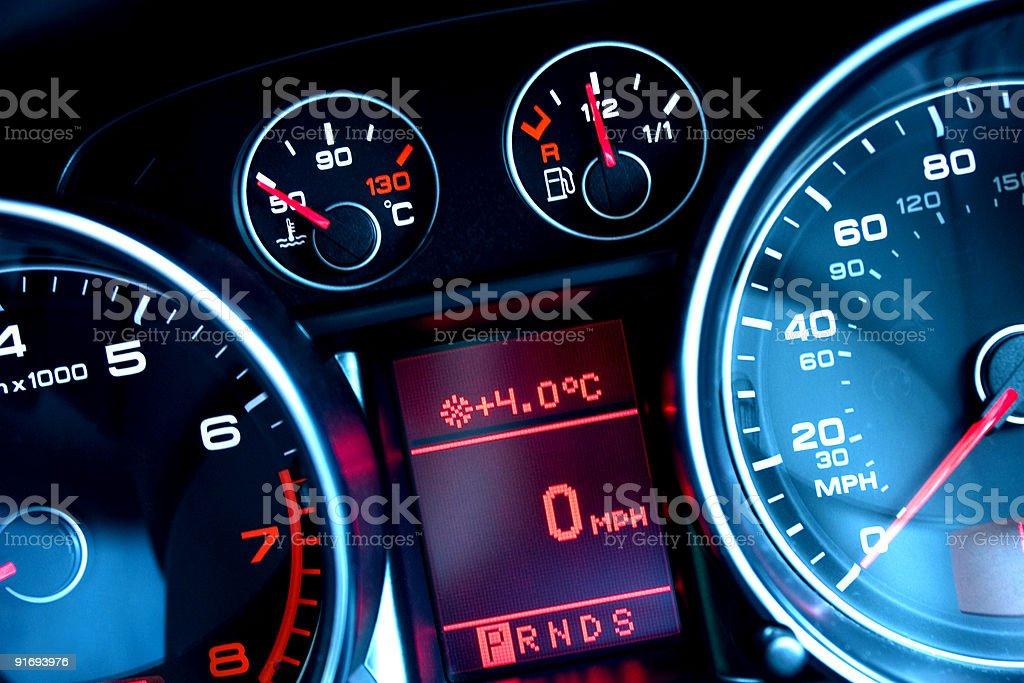 Car приборной панели Стоковые фото Стоковая фотография