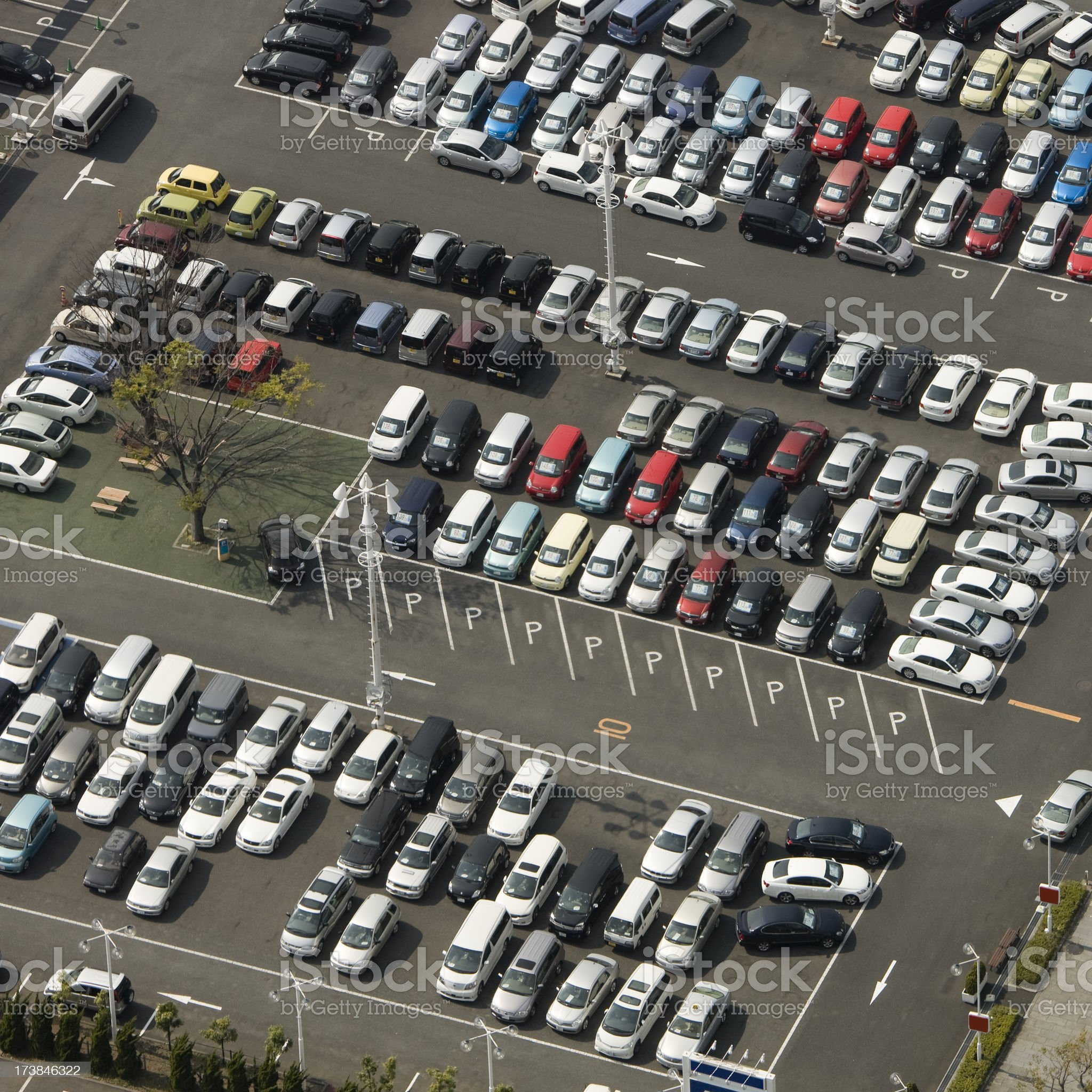 Car Dealer Aerial royalty-free stock photo