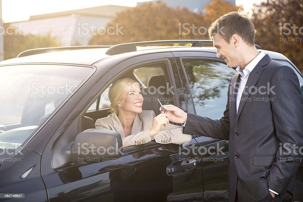 Car dealership stock photo