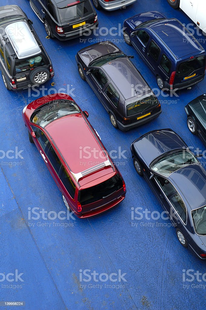 Car deck stock photo