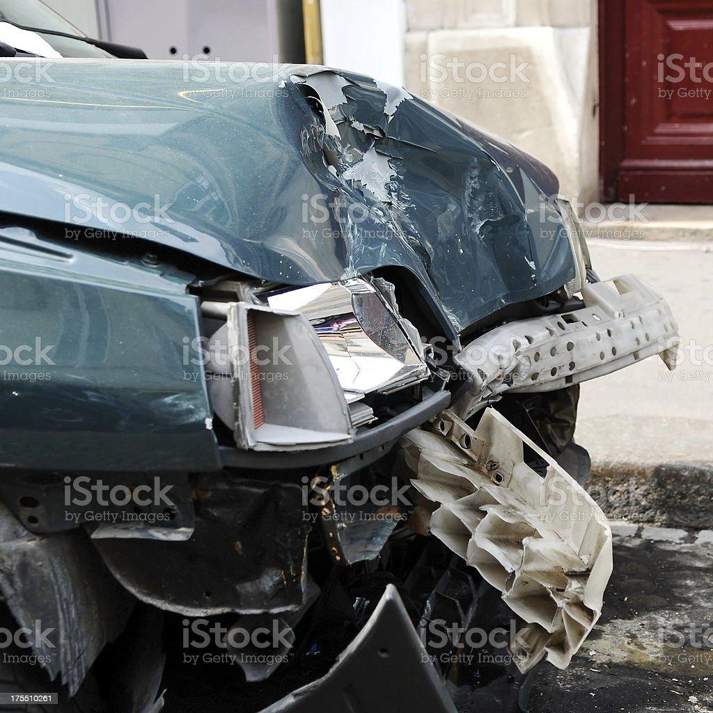 Car demolished stock photo