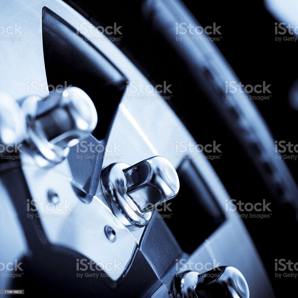 car detail,  steel rim stock photo