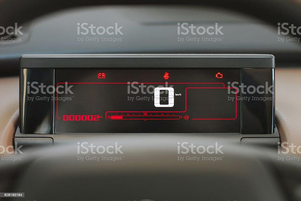 car digital dashboard stock photo