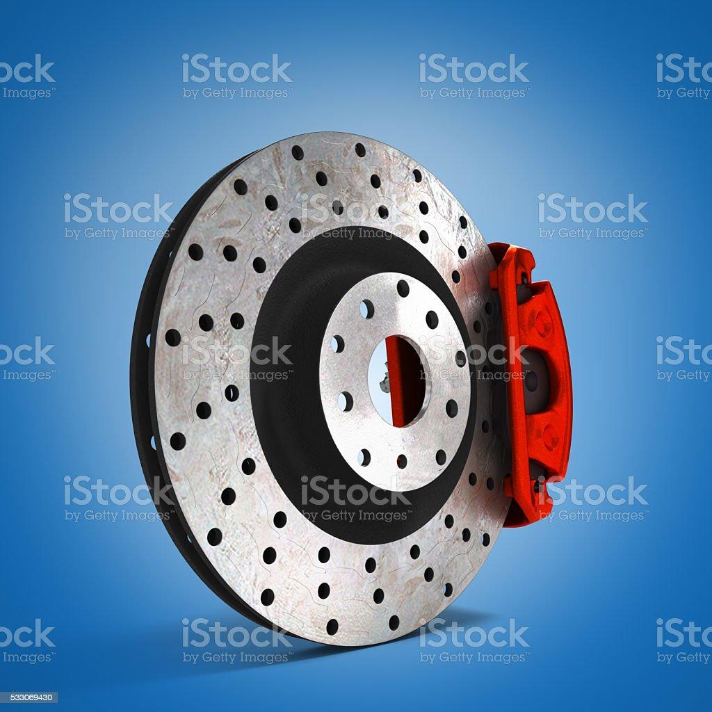 car disc brake 3d illustration stock photo