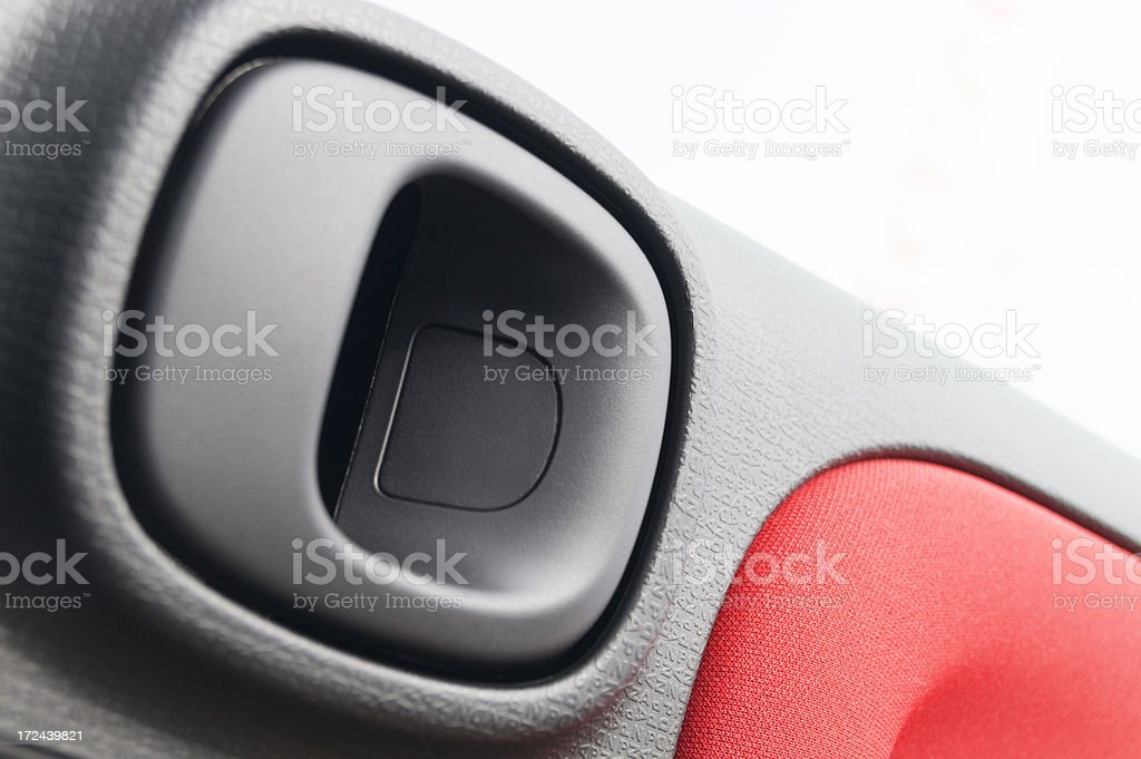 car door handle - inside stock photo