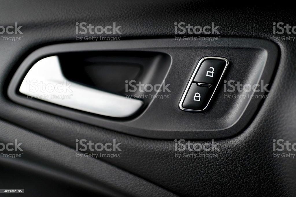 Car door handle. stock photo