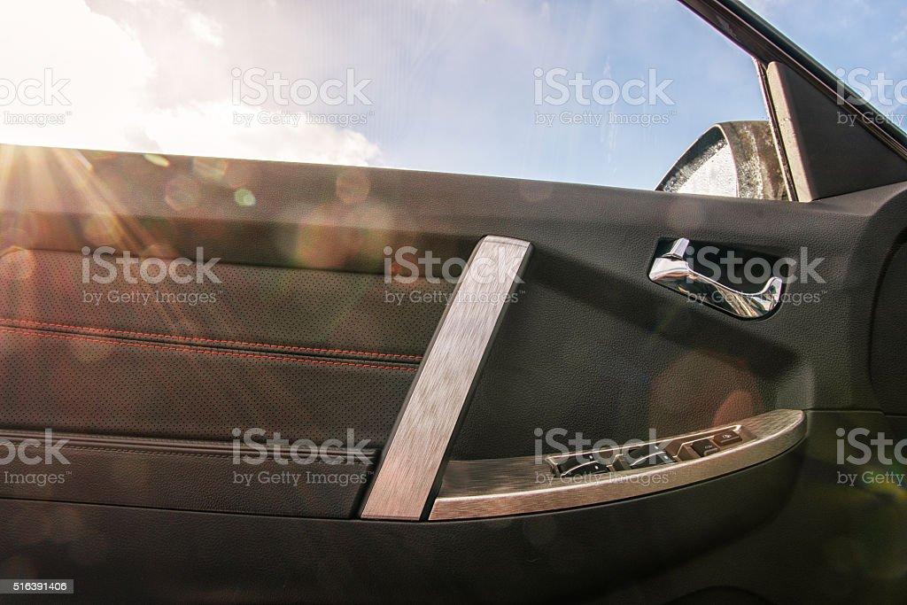 Car door trim stock photo