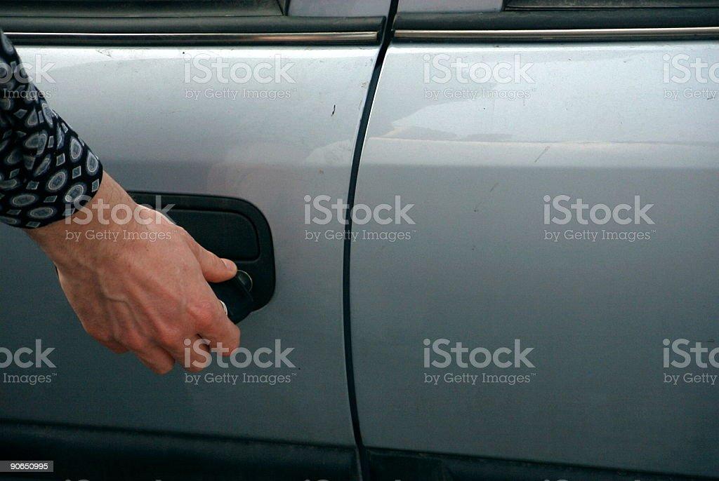 Car door - unlocking royalty-free stock photo