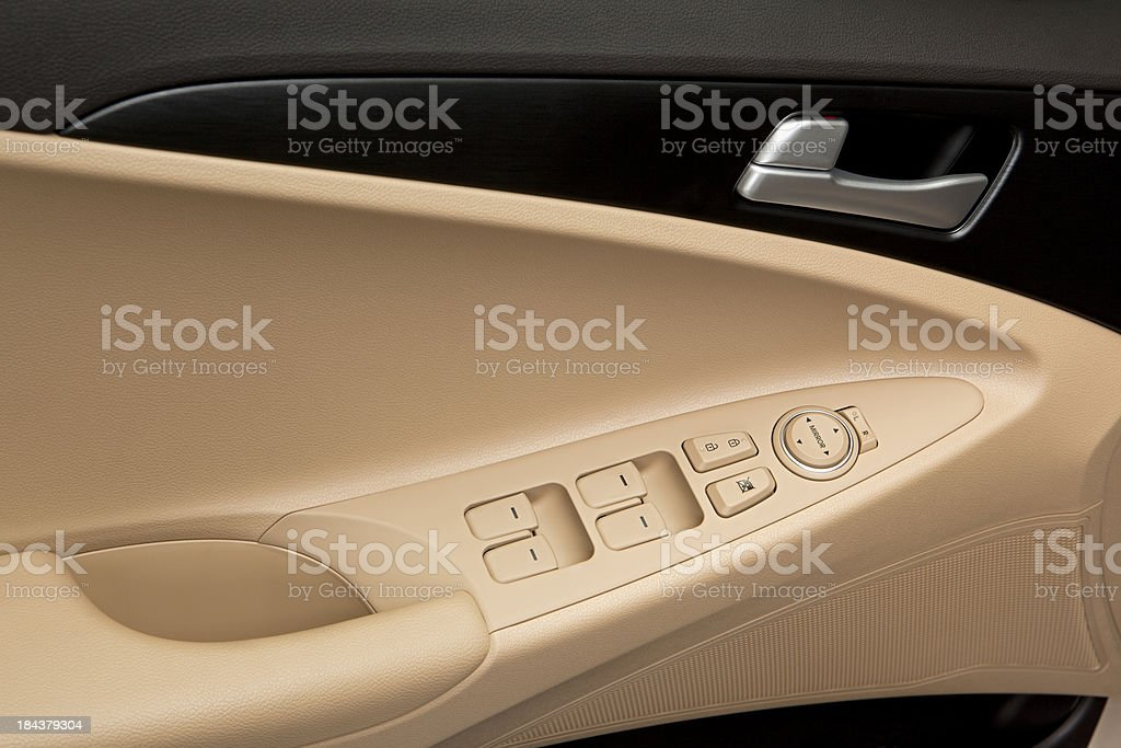 Car Door Window Control Panel royalty-free stock photo