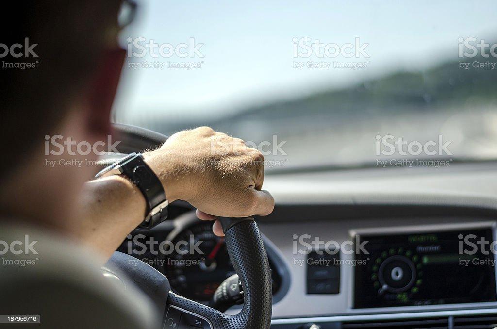 Car driver stock photo