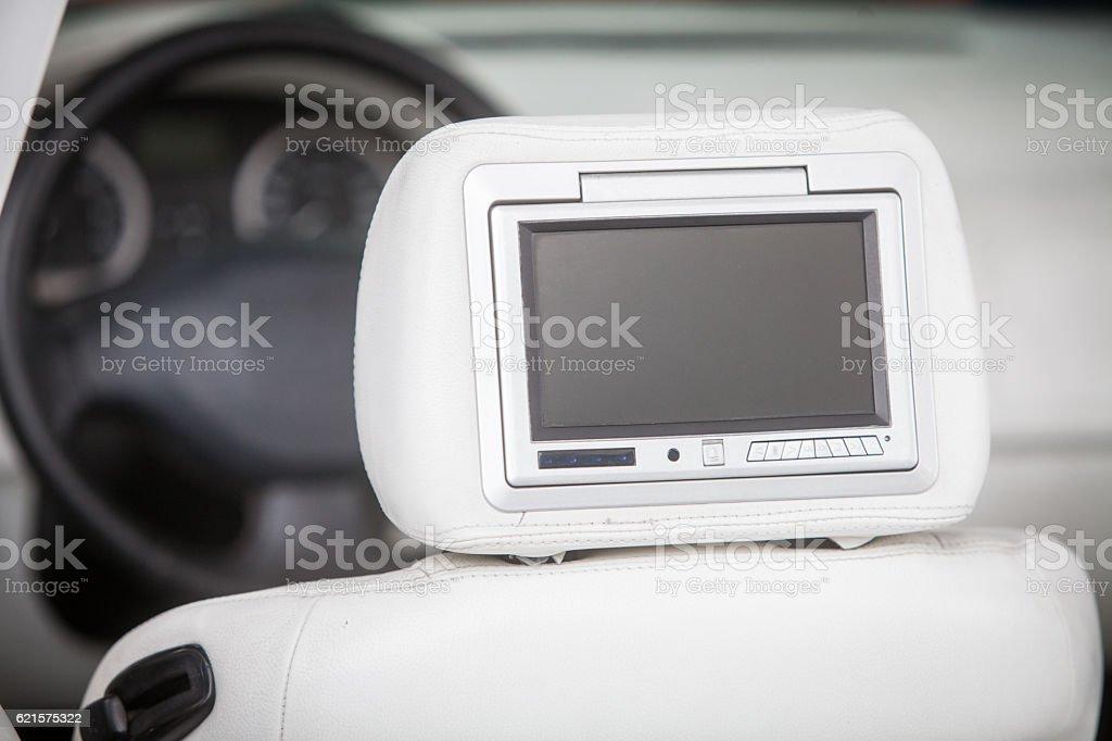 Car dvd player screen stock photo