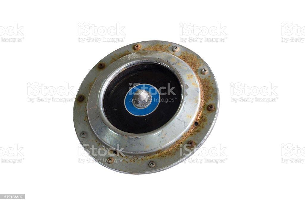 Car electric horn stock photo