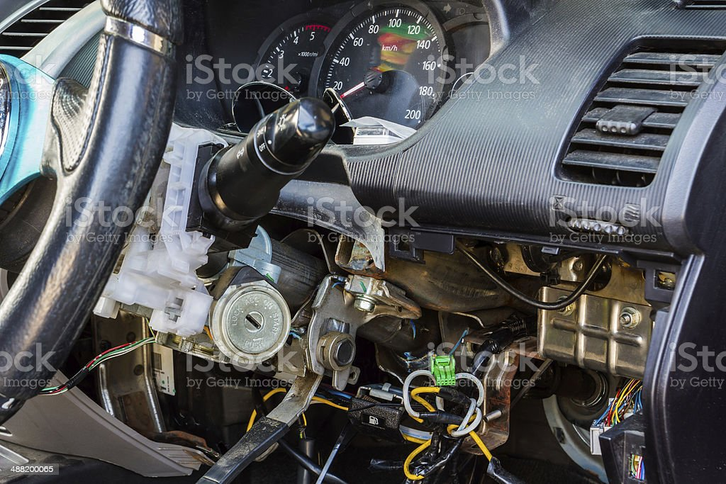 Car electric repair. royalty-free stock photo
