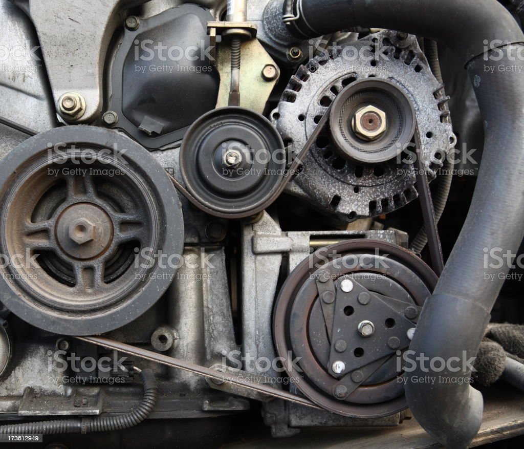 Car Engine Closeup royalty-free stock photo