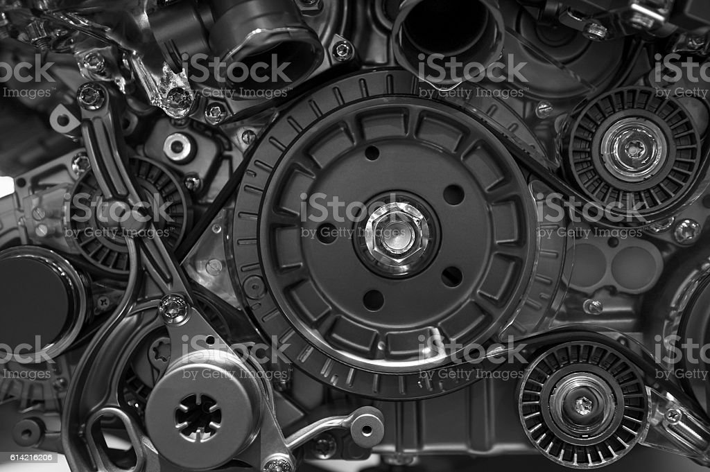 Car engine concept stock photo