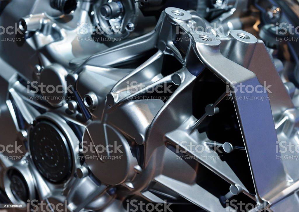 Car engine detail stock photo