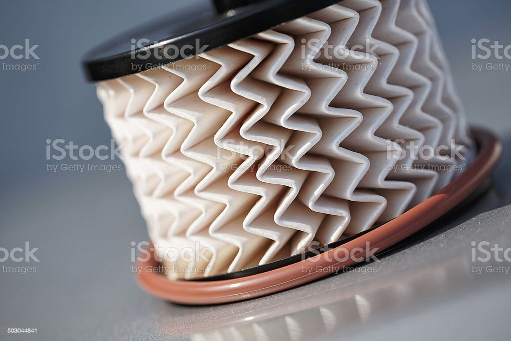 Car engine fuel filter stock photo