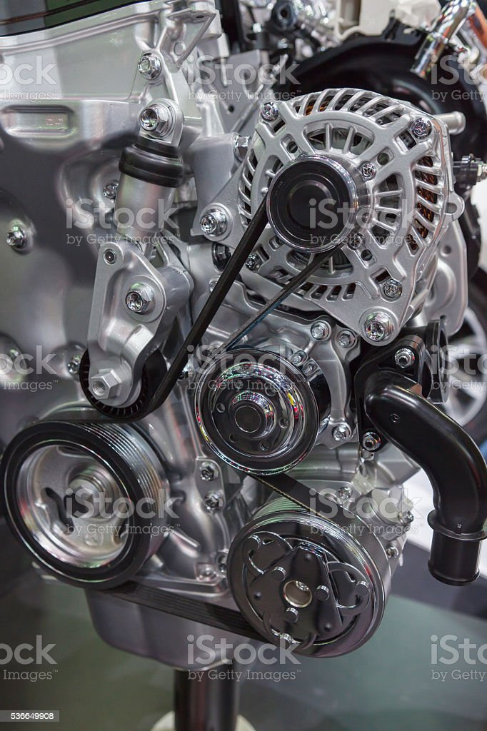 Car Engine - Modern powerful car stock photo