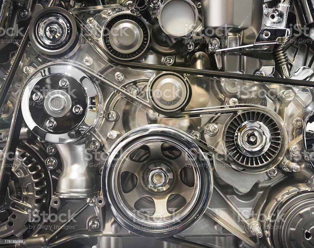 Car engine part royalty-free stock photo