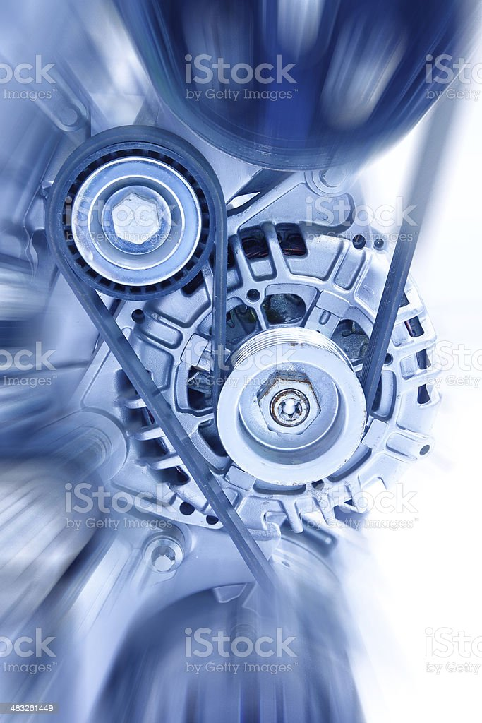 Car engine part stock photo