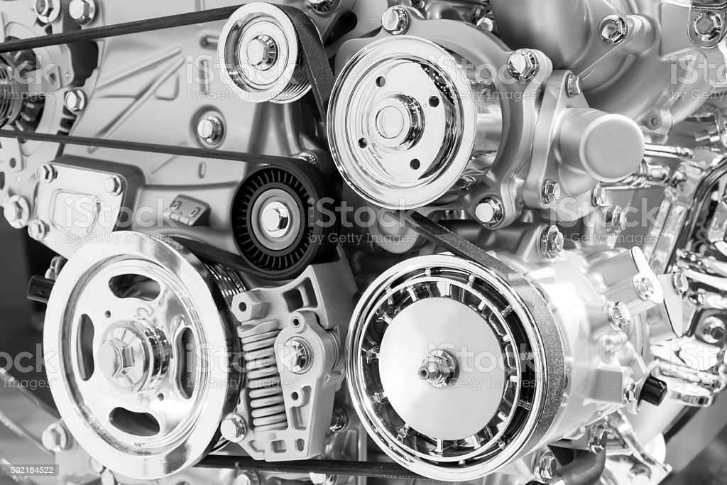 Car engine part stock photo
