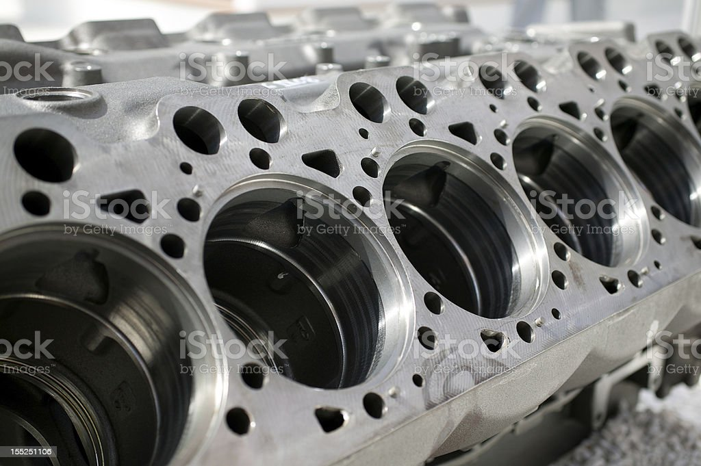 Car Engine Parts Motor Cylinder Block royalty-free stock photo