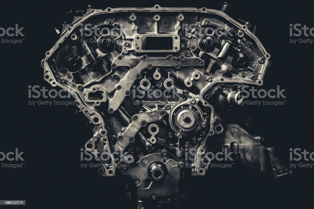 V8 Car Engine stock photo