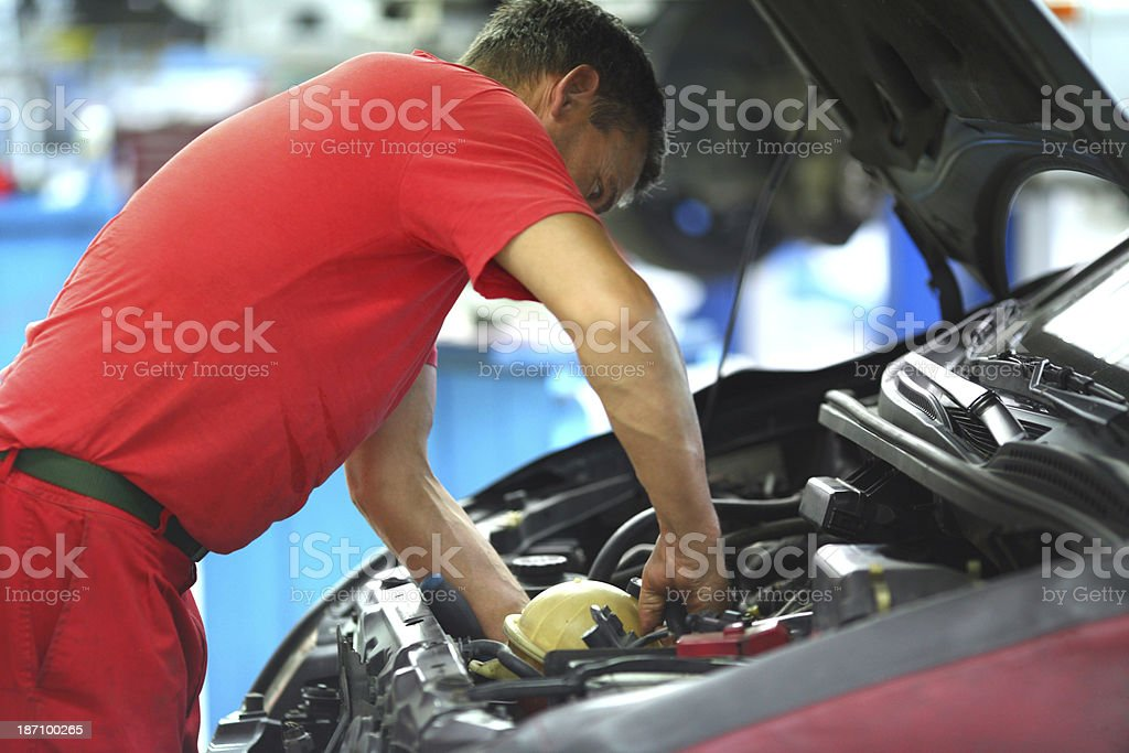 Car engine service. royalty-free stock photo