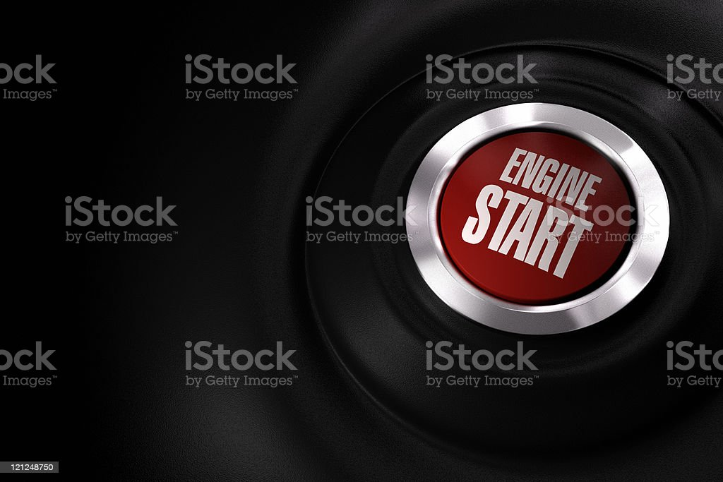 car engine start button royalty-free stock photo