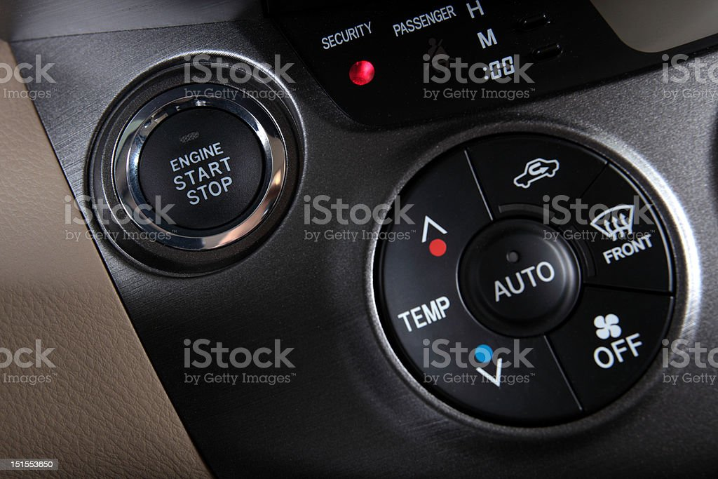 Car Engine Start Stop Button royalty-free stock photo