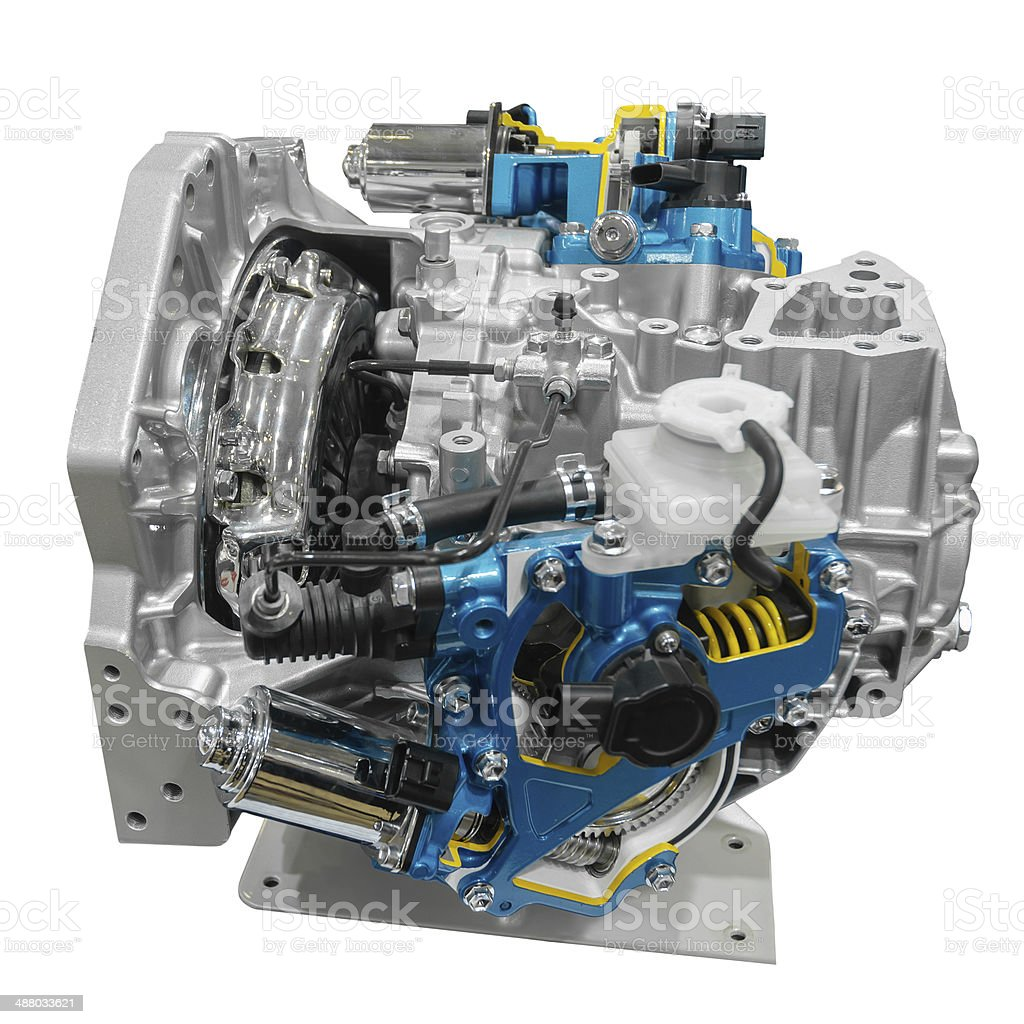 Car engine with path royalty-free stock photo