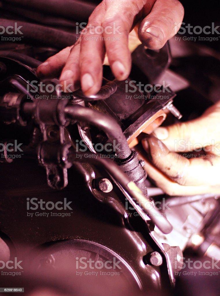 Car engine-repair stock photo