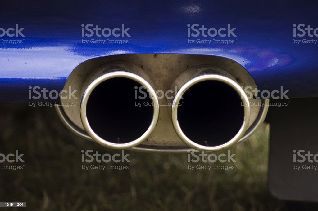 car exhaust royalty-free stock photo