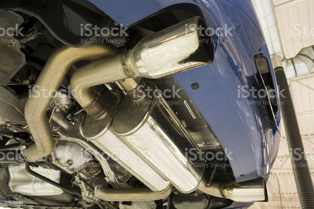 Car Exhaust Pipes royalty-free stock photo
