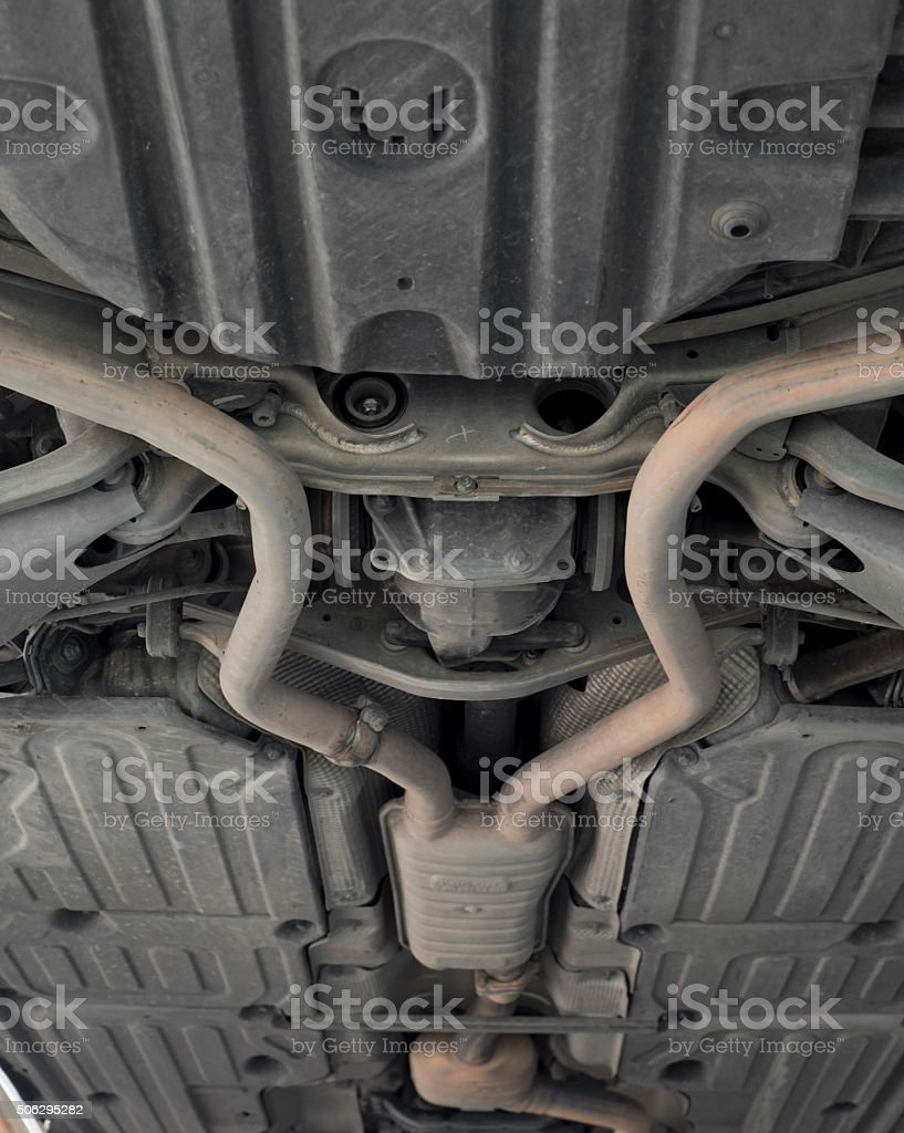 Car exhaust system. stock photo
