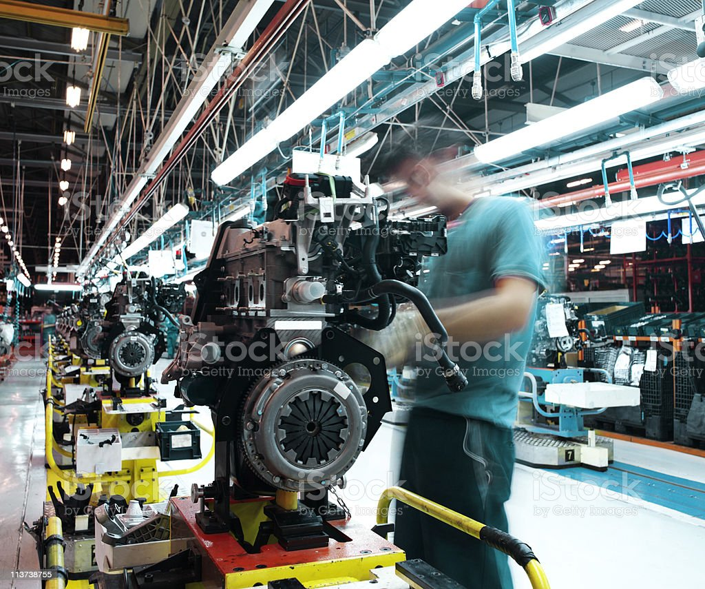 car factory stock photo