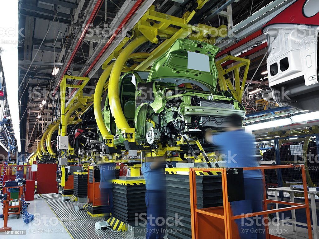 car factory royalty-free stock photo
