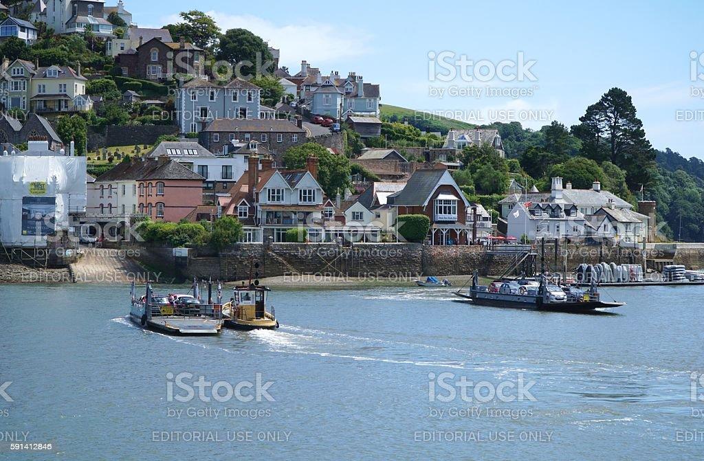 Car Ferries Across the River Dart, Dartmouth, Devon stock photo