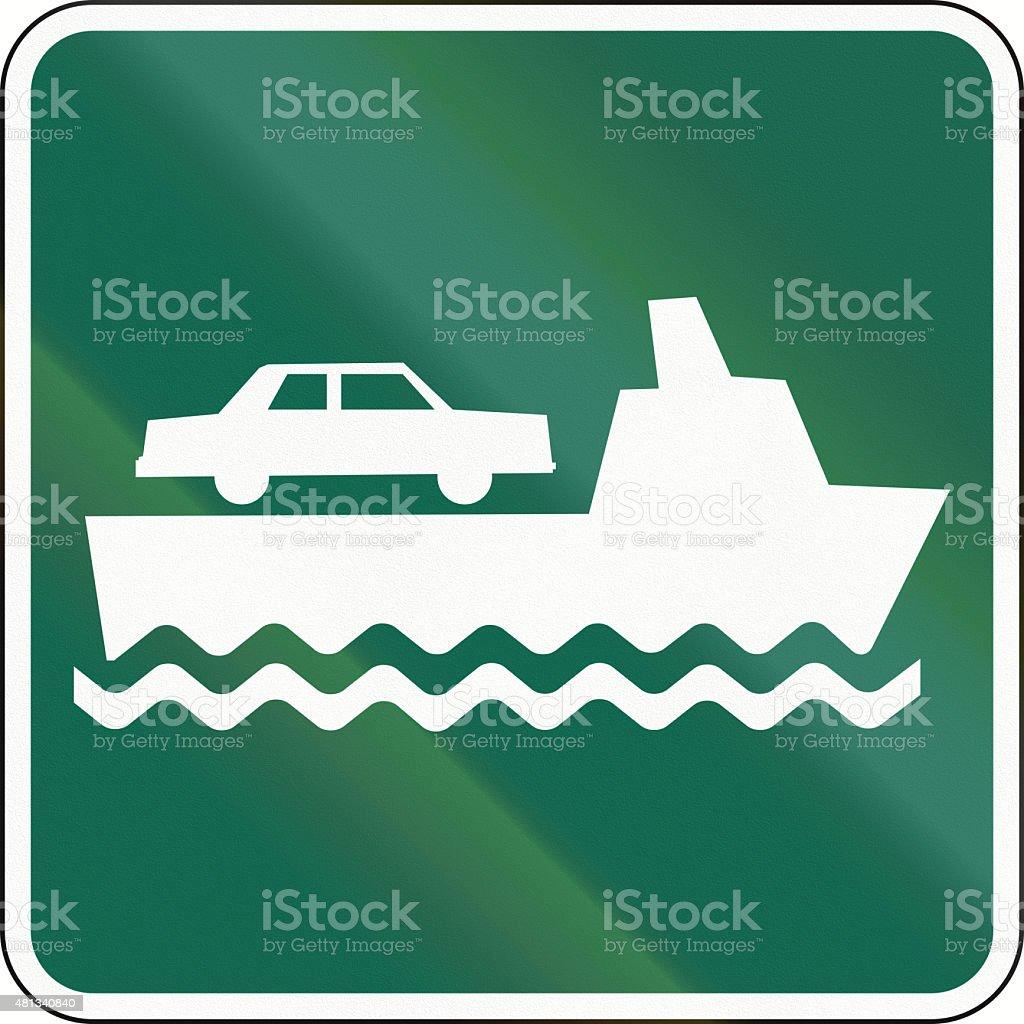 Car Ferry In Canada stock photo