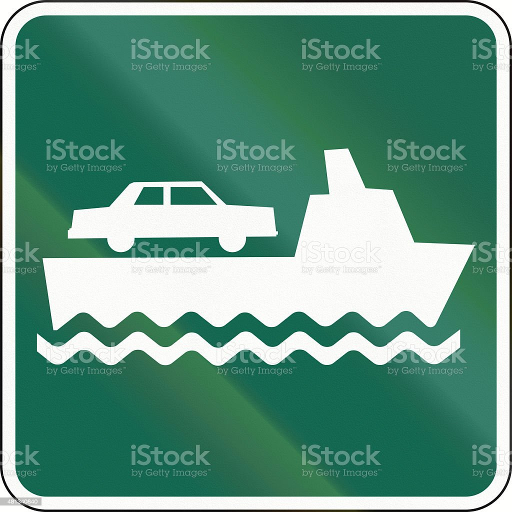 Car Ferry In Canada stock photo