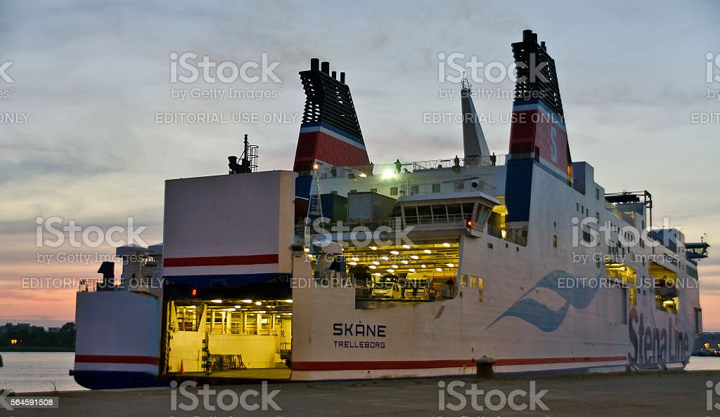 car ferry to Sweden stock photo