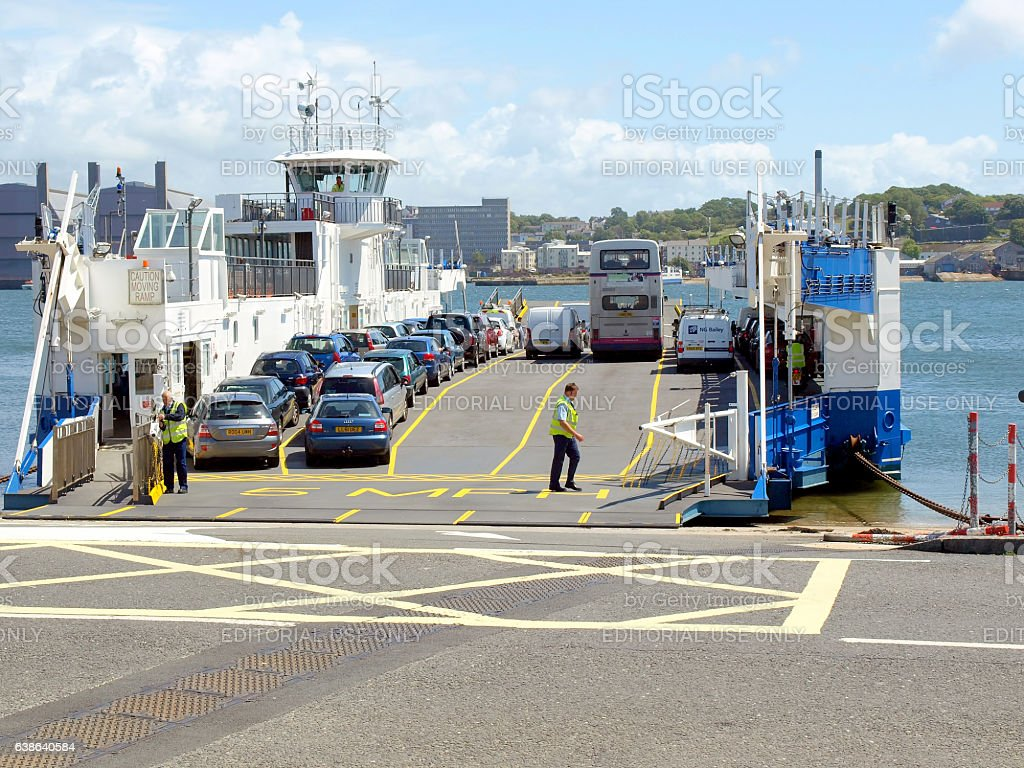 Car Ferry, Torpoint, Cornwall. stock photo