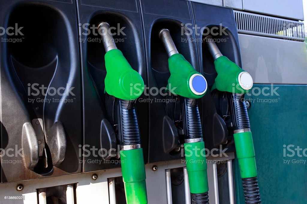 car fill with gasoline stock photo