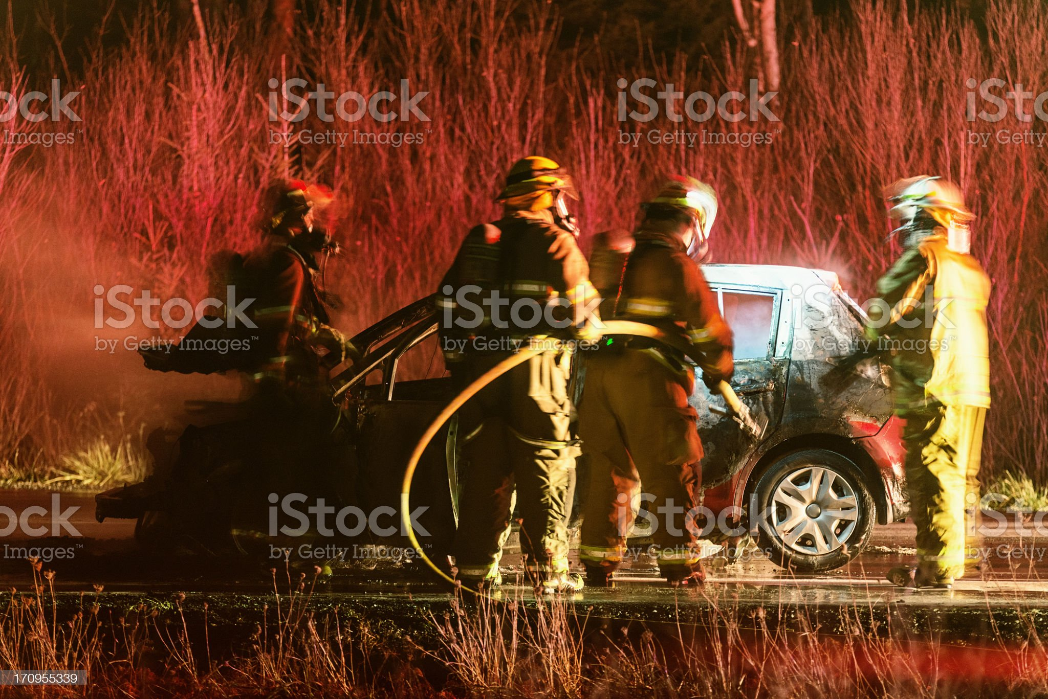Car Fire royalty-free stock photo